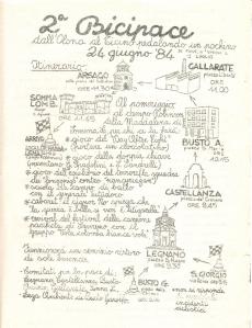 Bicipace - volantino edizione 1984 - fronte